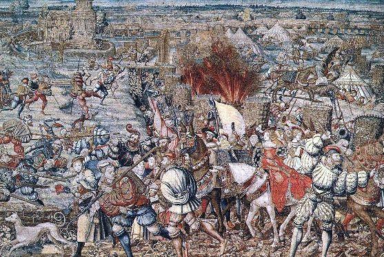 La Battaglia di Pavia, arazzo di Bernard van Orley e William Dermoyen, Napoli, Museo Nazionale di Capodimonte