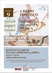 Musica Nazareth workshop basso continuo