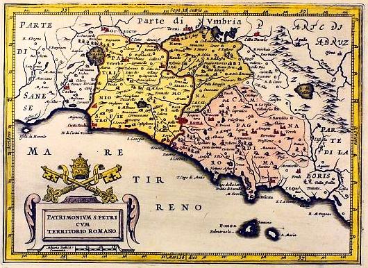 Cartina Lazio.Mappa Antica Lazio 1620 Il Teatro Della Memoria